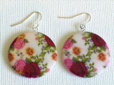 Fuschia Rose Earrings